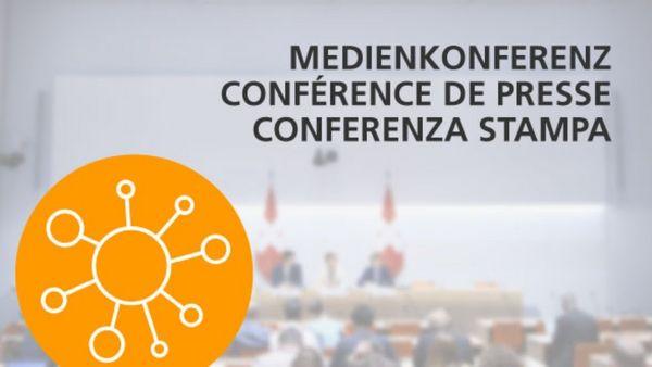Medienkoferenz des Bundesrats über die neuesten Entscheide ...